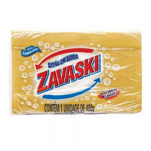 Sabão Barra Zavaski Amarelo 400g