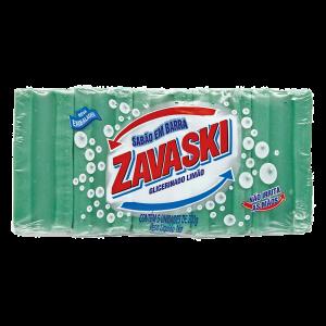 Sabão Barra Zavaski Glicerinado Limão 1Kg